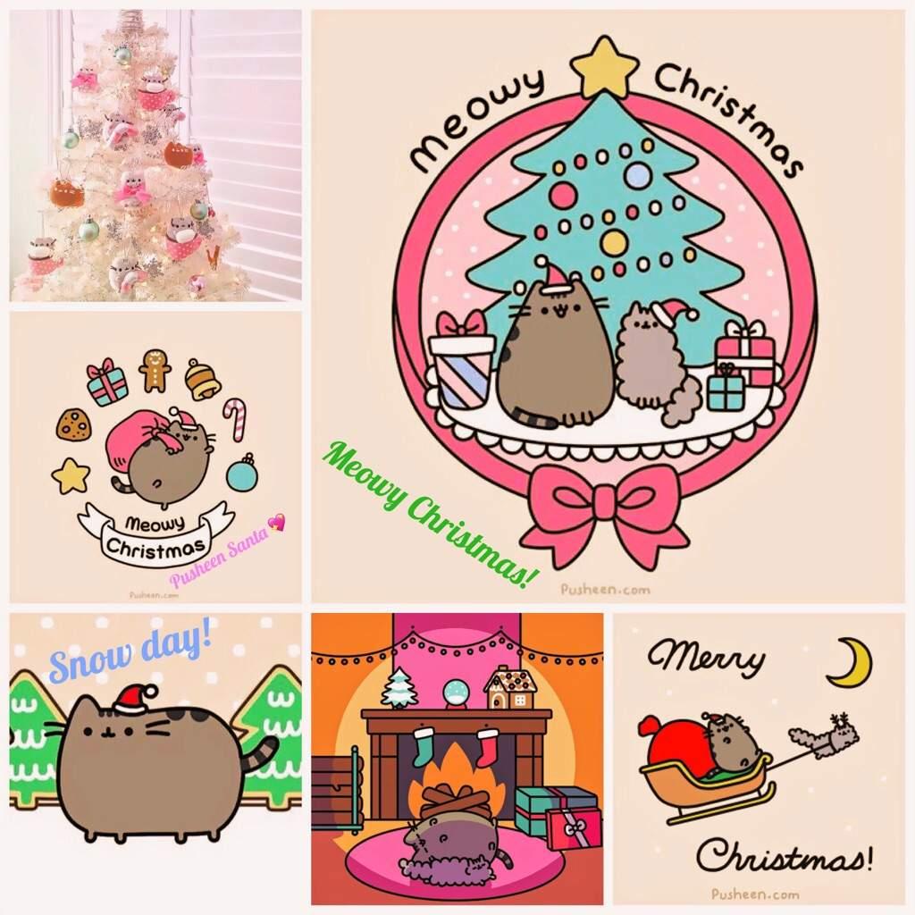 Pusheen Christmas.Pusheen Christmas Edit Pusheen The Cat Amino Amino