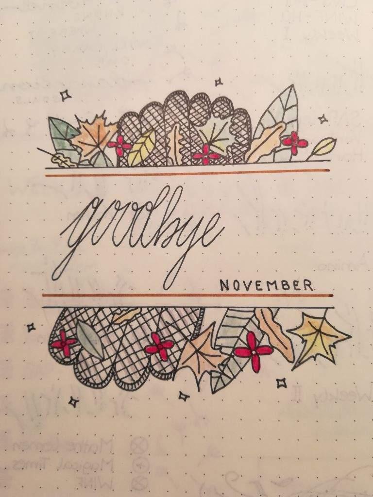 Goodbye November Hello December Bullet Journal Amino