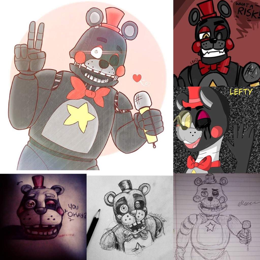 Lefty fanart! (All credit goes to the artists!! Art not mine