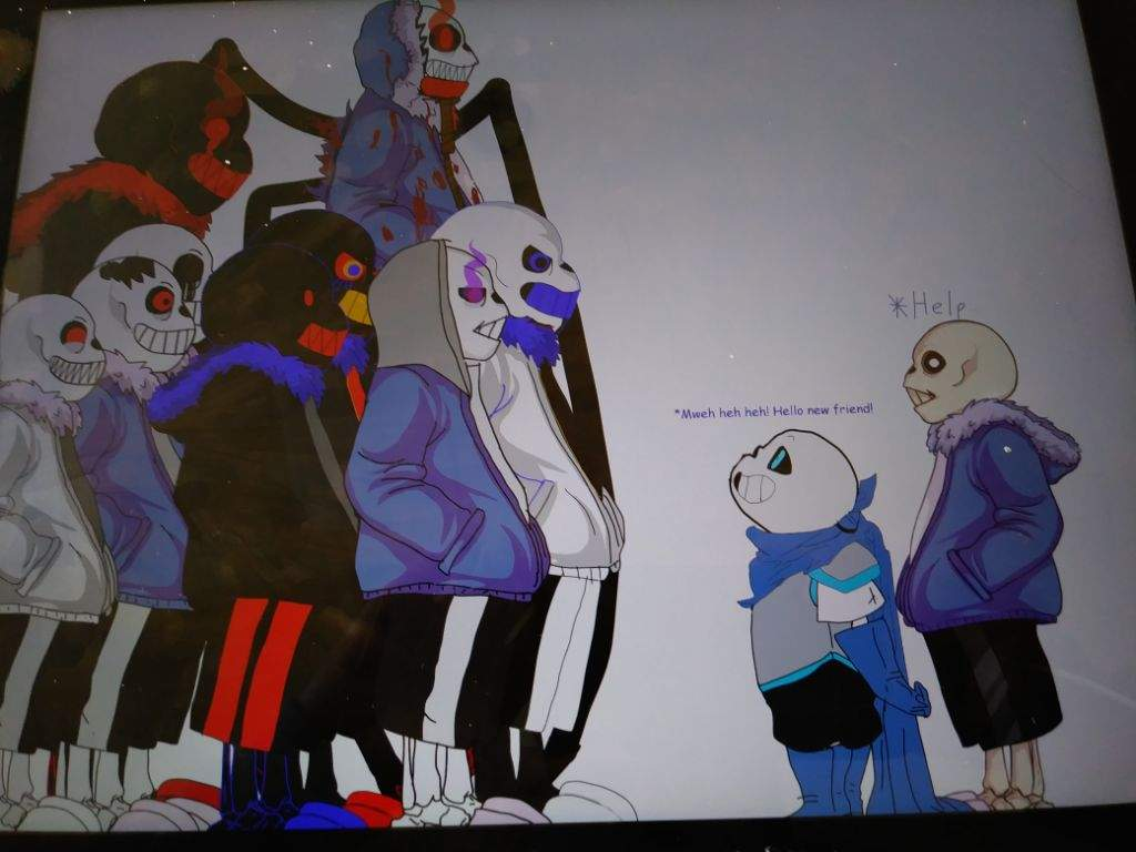 Sans and Blue meet the Nightmare Gang (TEMPLATES WERE USED ...