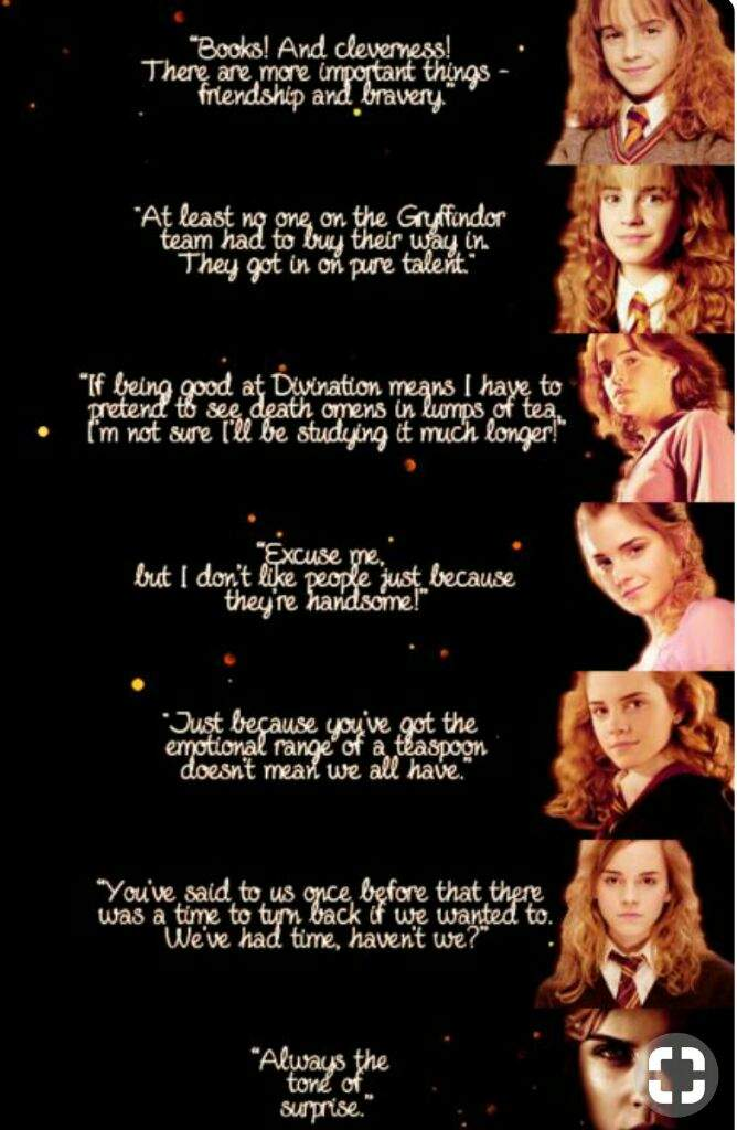 Smart And Sassy Hermione Granger Quotes Harry Potter Amino