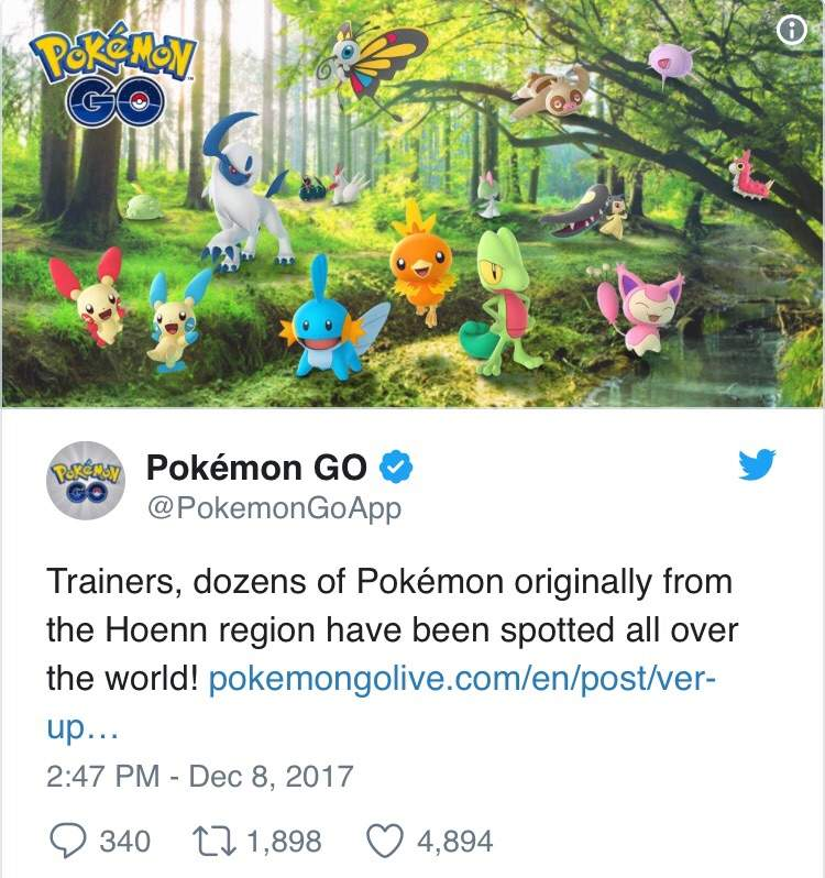 Pokemon Go News: Gen 3, Weather Effects And More! | Pokémon