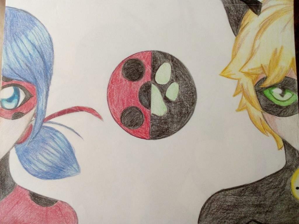 Dibujo De Ladybug Y Chatnoir Miraculous Ladybug Español Amino