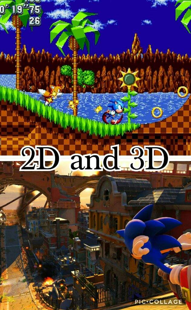 Sonic 2d Or 3d Gameplay Sonic The Hedgehog Amino