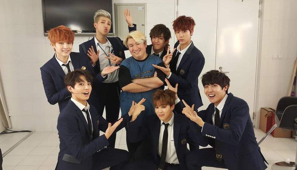 Bang PD Nim with BTS