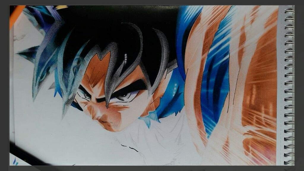 Dibujo De Goku Ultra Instinto: Pintando A Goku Ultra Instinto Con 12 Colores