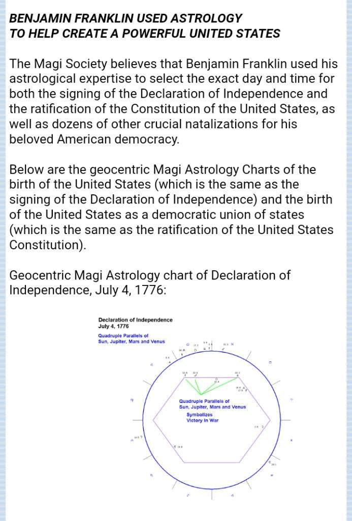 Benjamin Franklin Master Astrologer Zodiac Amino