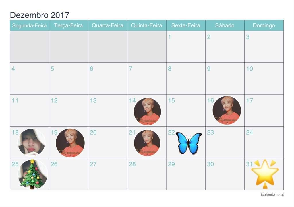 Calendario Dezembro2017 Bts Br Amino
