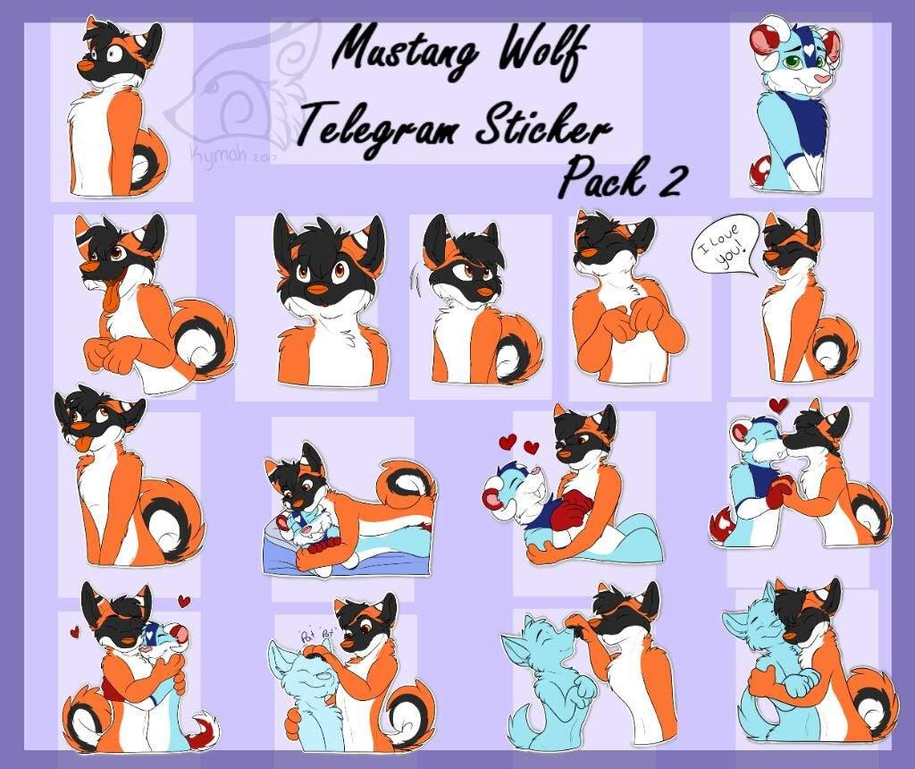 Mustang wolf Telegram sticker pack 2   Furry Amino