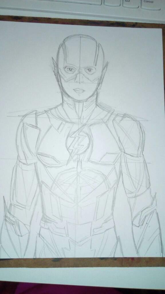 Dibujo De Flash La Liga De La Justiciajustice League