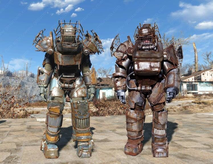 sidebysidecosplay full raider power armour from fallout 4 cosplay