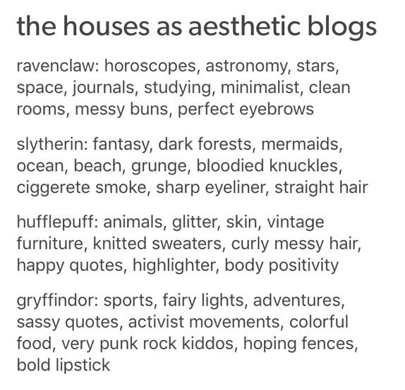House Aesthetic Blogs | Harry Potter Amino
