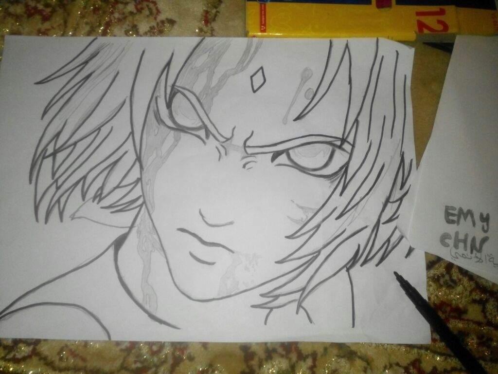 رسم انمي ناروتو