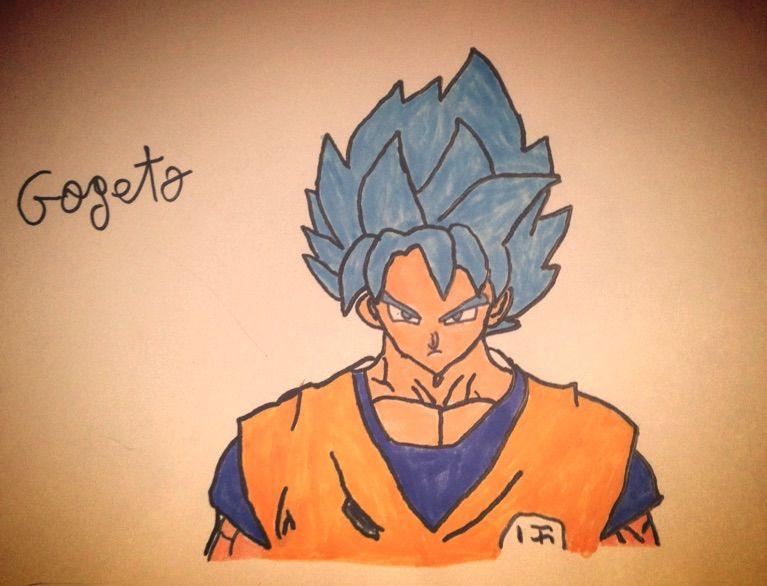 Mon Dessin De Goku Ssj Blue Dragon Ball France Amino