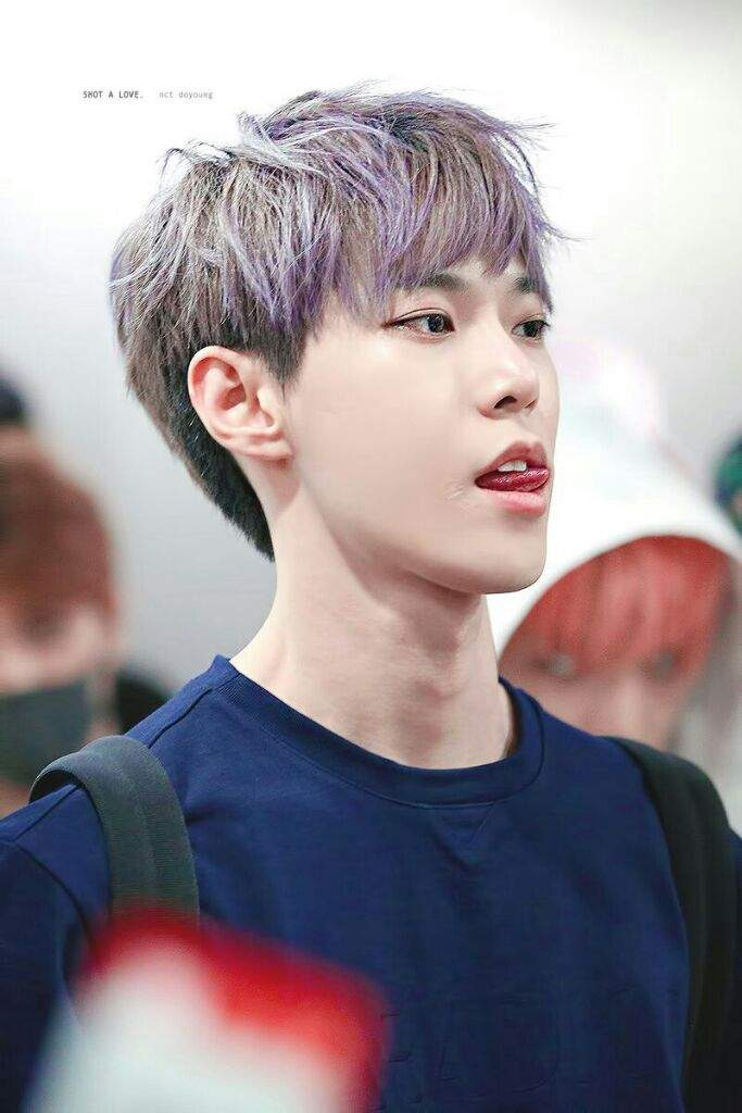 Doyoung In His Violet Colored Hair Nct Amino