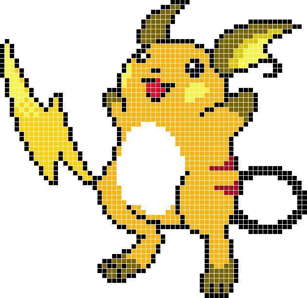 Pixel Art De Raichu Pokémon En Español Amino