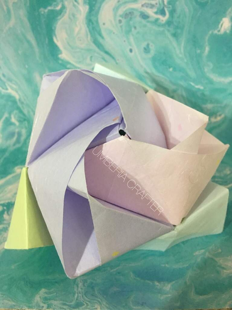 The Origami Rose Cube Of Luck Crafty Amino