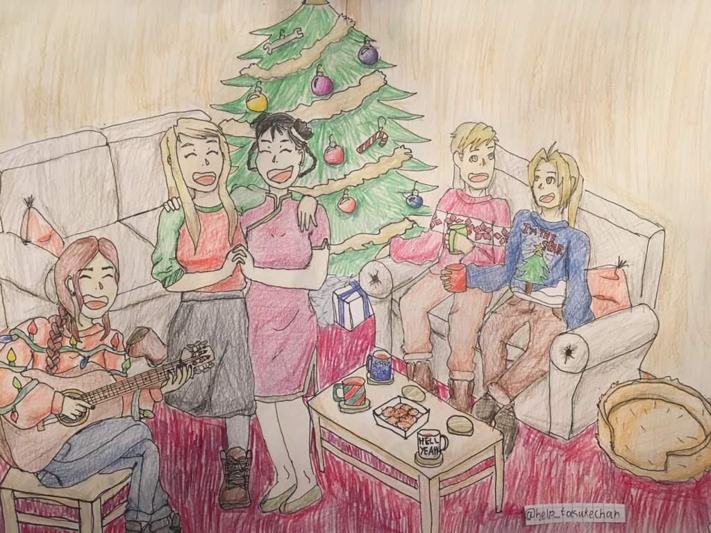 Christmas Celebration Images For Drawing.Family Christmas Fullmetal Alchemist Amino