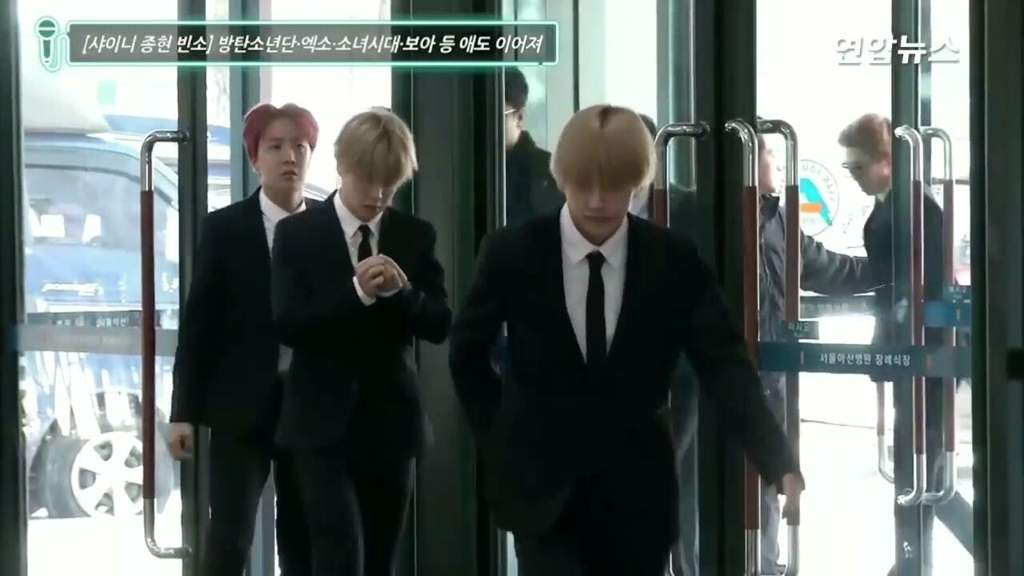 BTS Arrives at SHINee Jonghyun's Funeral   ARMY's Amino