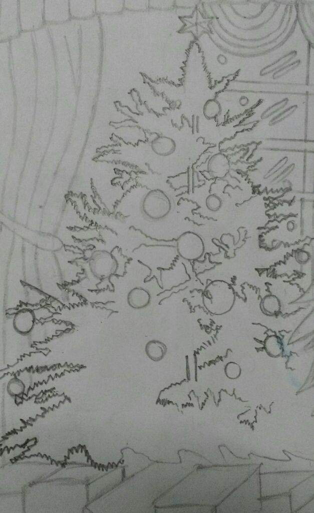 How To Draw A Realistic Christmas Tree.Tried To Draw A Realistic Christmas Tree But Mystic