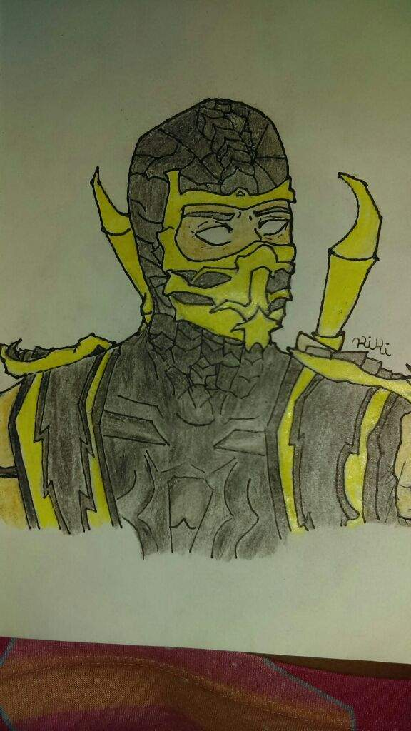Scorpion Mortal Kombat Drawing Art Amino
