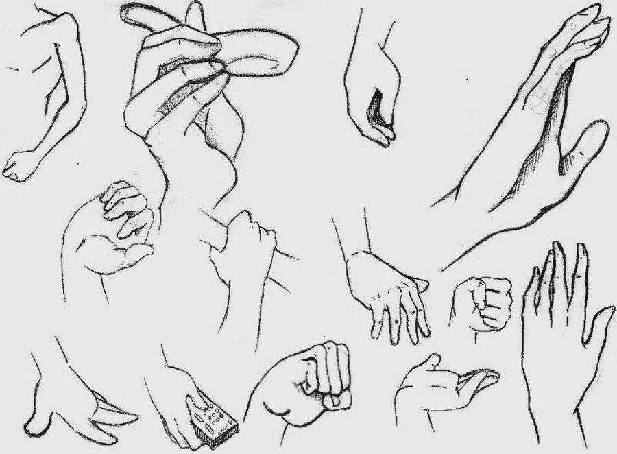when you download anime hands to know how to draw them correctly