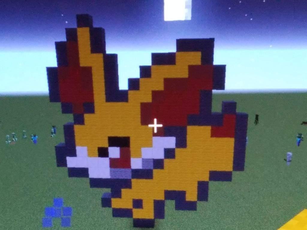 Fennekin pixel art in Minecraft | Pokémon Amino