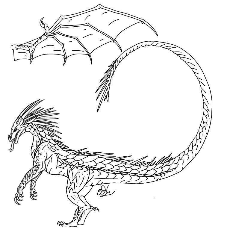 Icewing adopt base wings of fire amino for Wings of fire coloring page