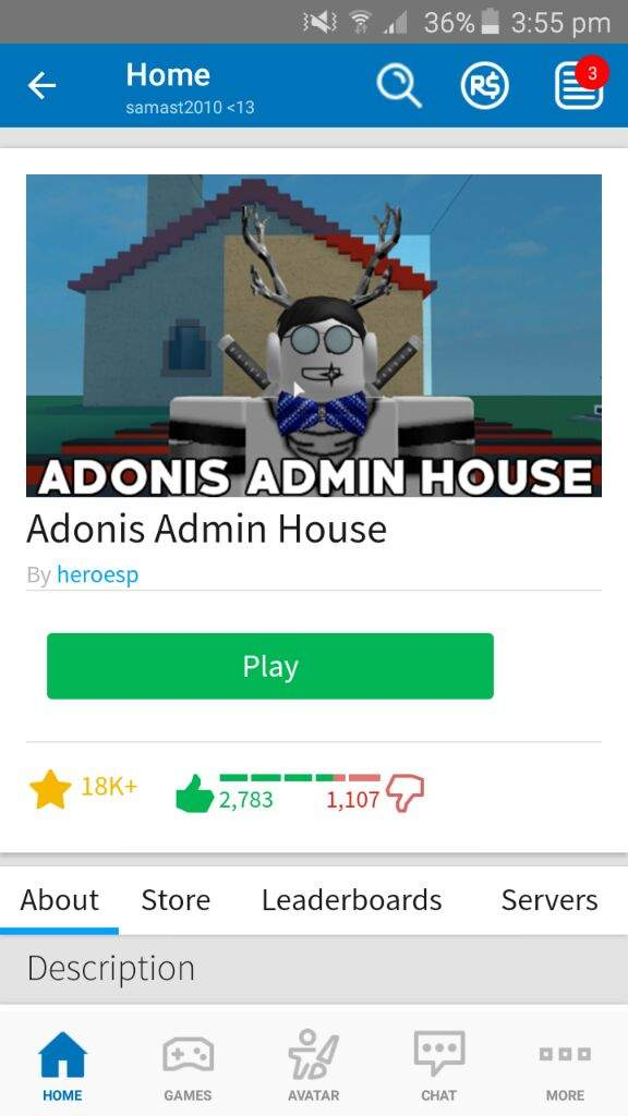 Adonis Admin House Roblox Hi Guys I M Going To Play This Game Roblox Amino