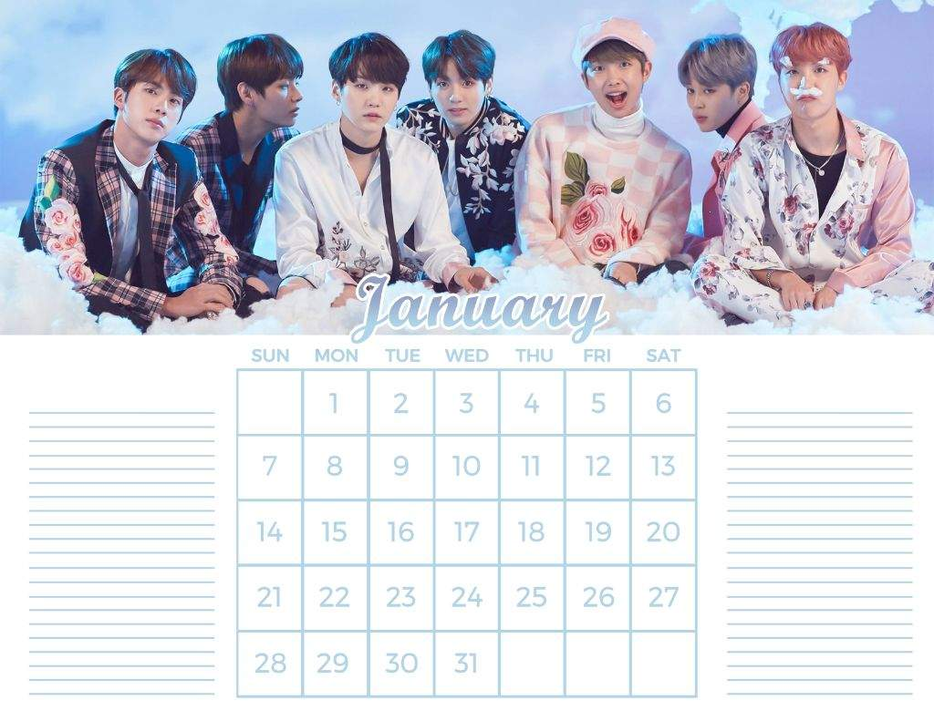 Diy Kpop Calendar : Fan made bts calendar diy army s amino