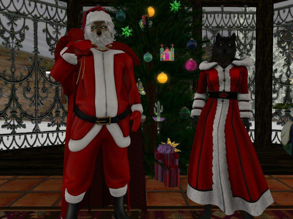 Mr And Mrs Santa Paws Wish You All Merry Christmas And A Happy New
