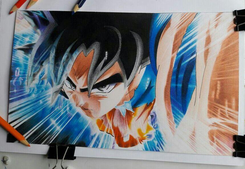 Como pintar a goku ultra instinto y el aura explicado - Pintura instinto ...