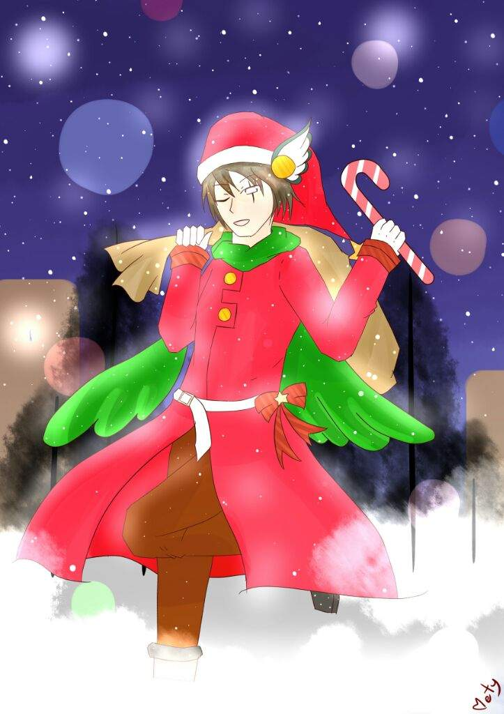 Gijinkas) What\'s christmas? I know only Xmas!   Kirby Amino