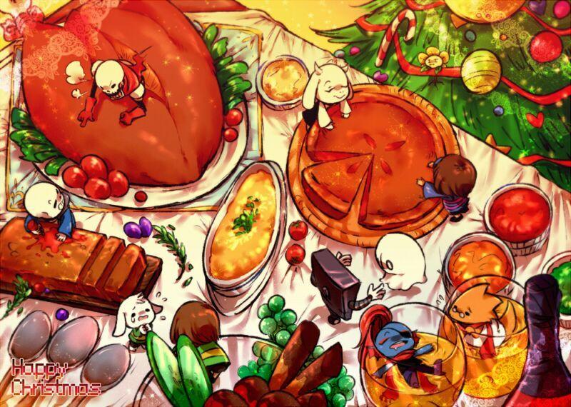 Undertale Christmas.Merry Christmas X3 Undertale Amino