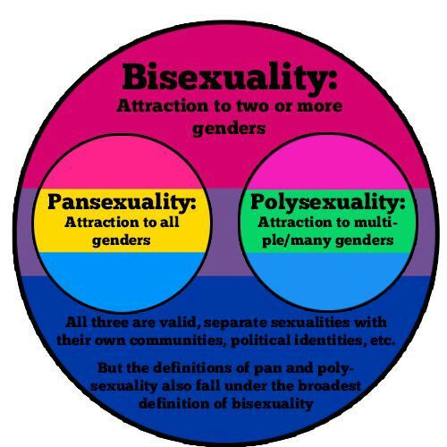 Bisexual and pansexual difference