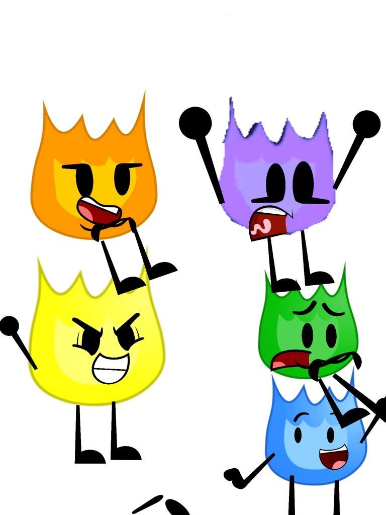 Firey colors (need objects so request) | BFDI💖 Amino