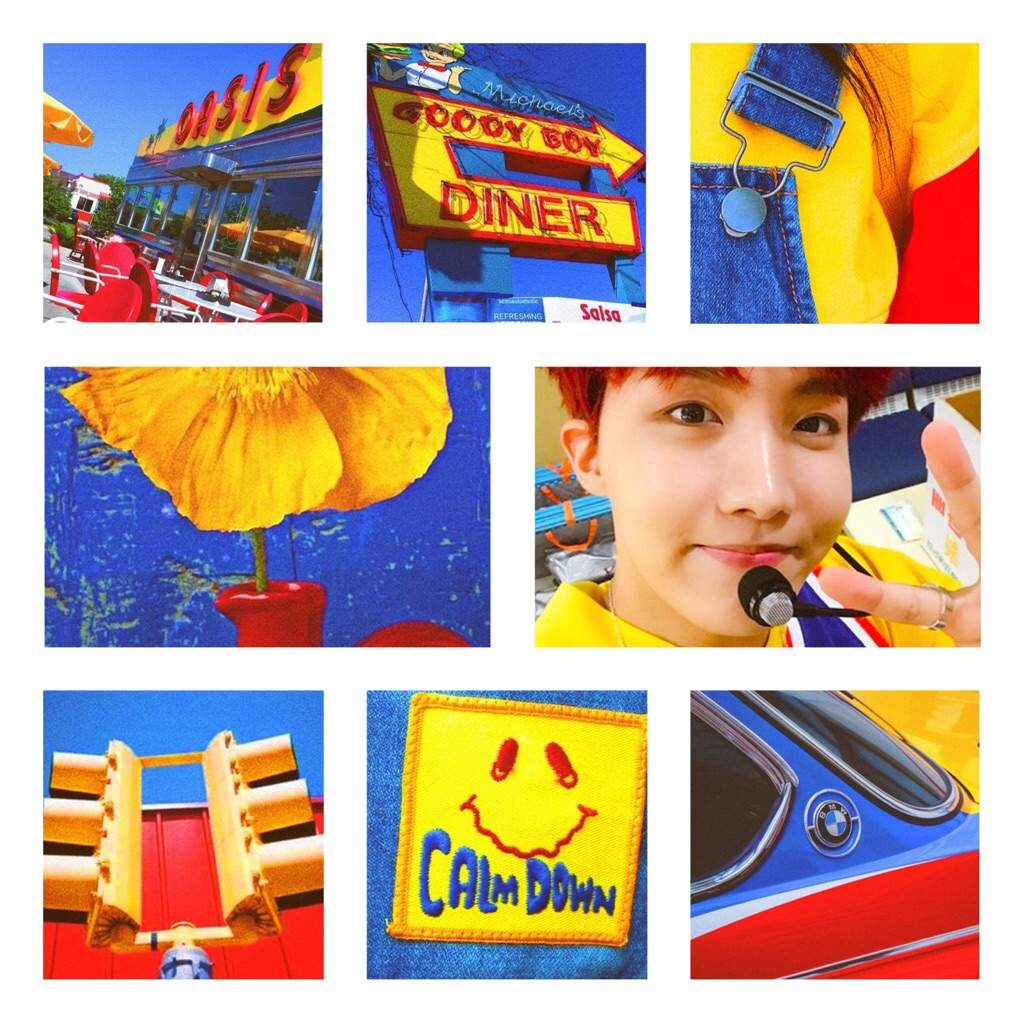 Jung Hoseok Red Blue Yellow Army Aesthetics Amino
