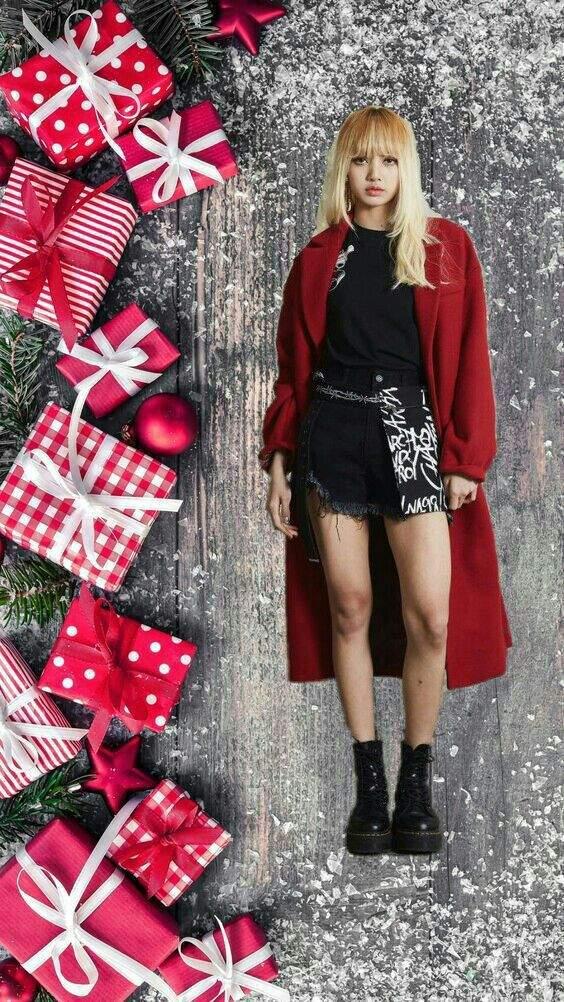 Christmas Edits And Aestheics Of Lisa From Blackpink Kpop Girl