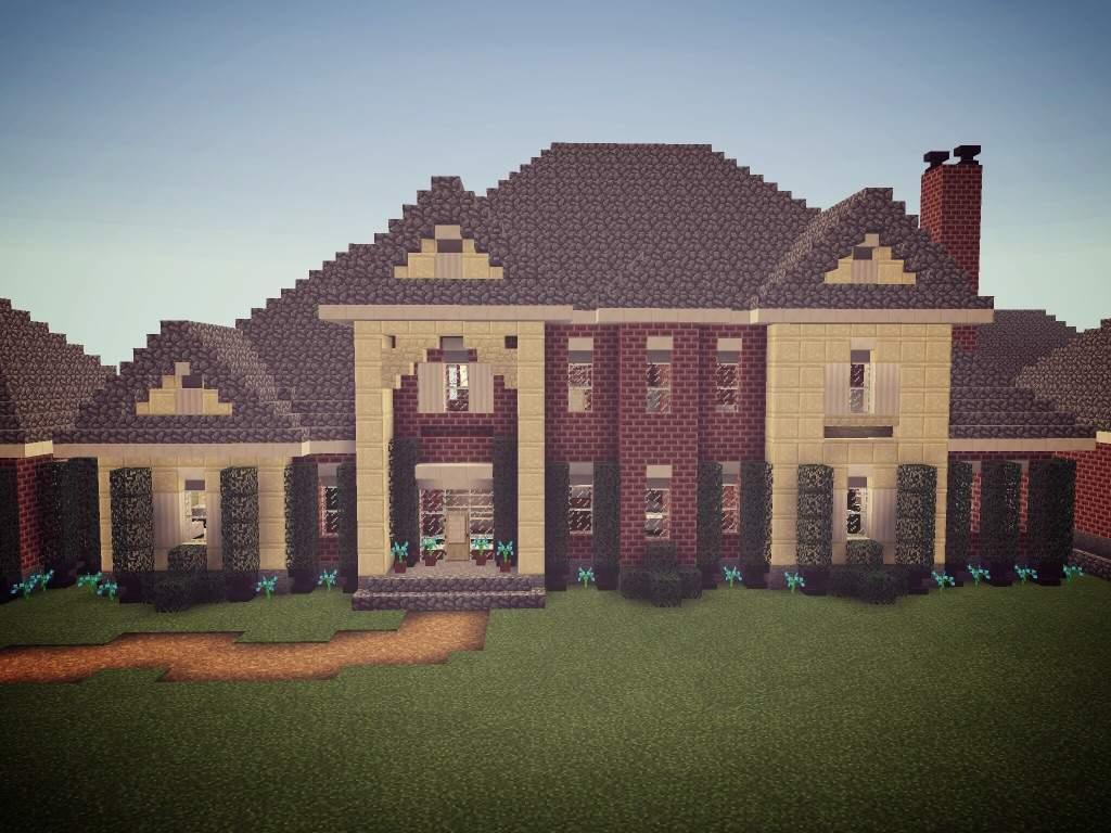 Small Brick Mansion  Minecraft Amino