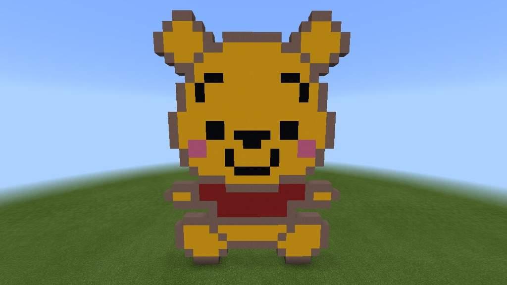 Kawaii Winnie The Pooh Bear Pixel Art Minecraft Amino