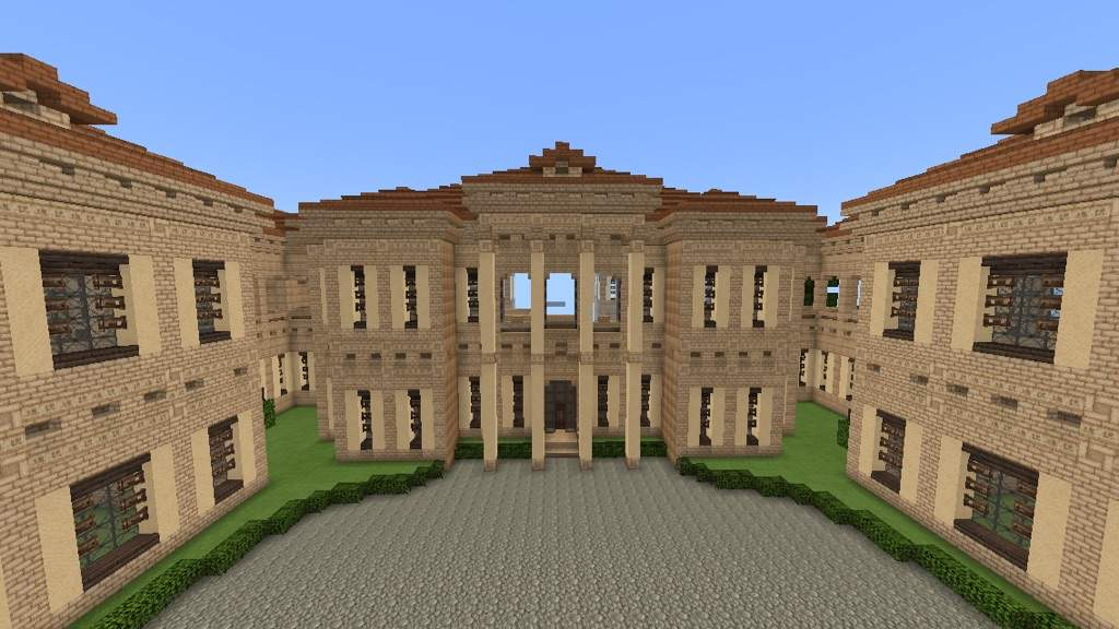 These Are The Fronts Of Centre Right And Left Sections Mansion Being Symmetrical