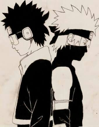 Fanart Obito E Kakashi Hiddenartist Naruto Shippuden