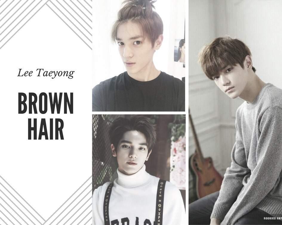Lee Taeyong Brown Hair Aesthetic Nct 엔시티 Amino