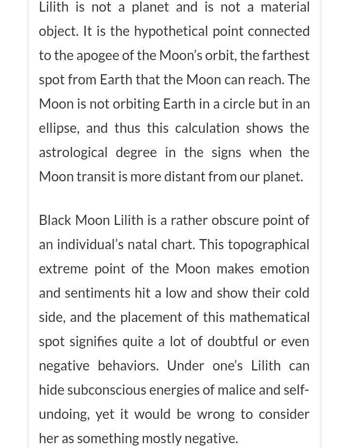 THE AFFECTS OF BLACK MOON LILITH IN THE EIGTH HOUSE OF SEX