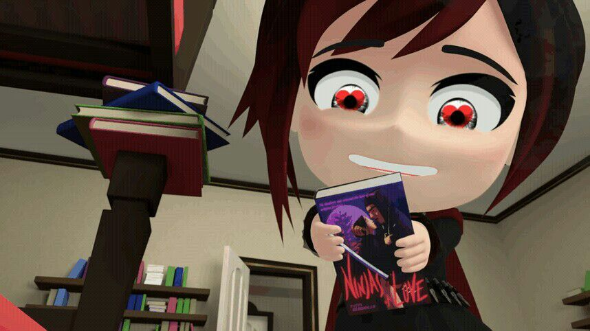 Ruby chibi has fallen in love with blake's book | RWBY Amino
