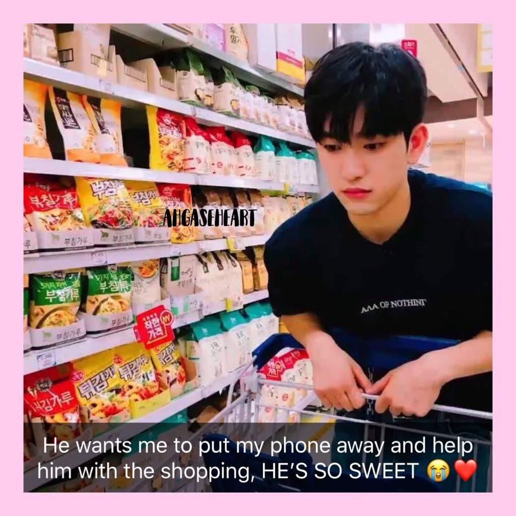 Shopping with JinYoung! [Snapchat]   GOT7 Amino
