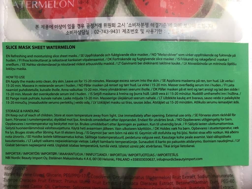 REVIEW] Kocostar Watermelon Slice Mask Sheet | Korean Beauty Amino