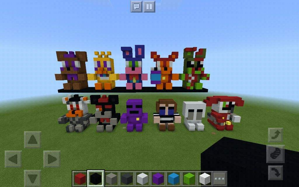 Freddy Fazbear S Pizza Simulator Plushies In Minecraft Pe Five