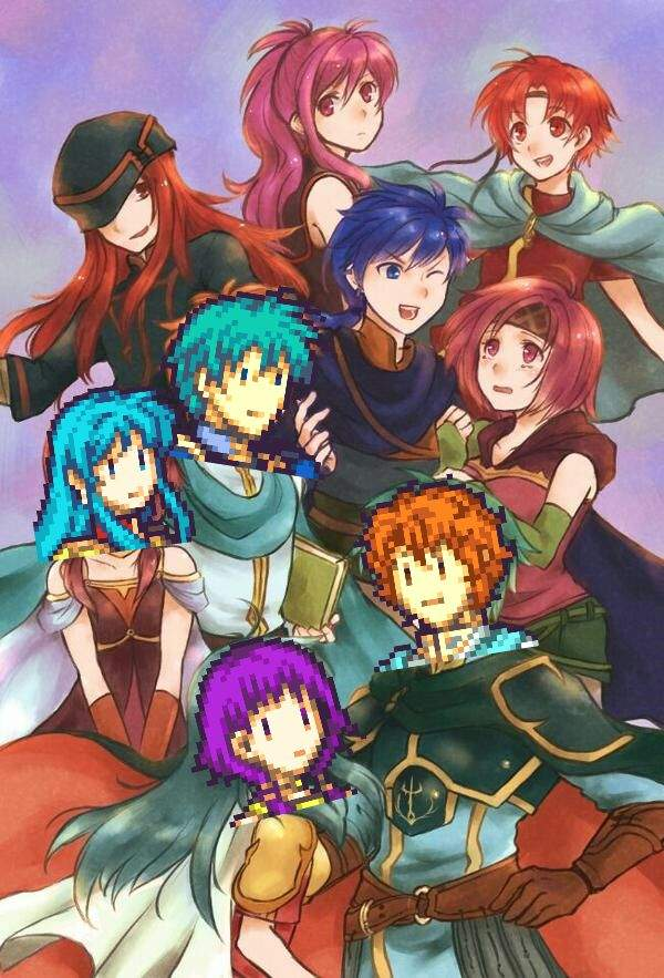 Lute, Artur and the Twins of Renais - FE8 ROM Character Swap