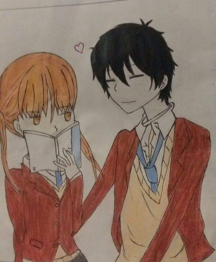 My First Anime Couples Drawing Xp Romance Anime Amino